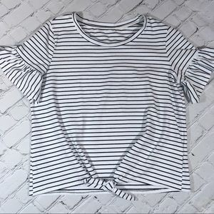 Tops - Ladies white and black top